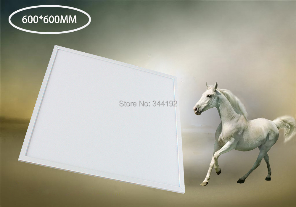 Free Shipping High Brightness 50W 600x600mm LED Panel Light Aluminum Alloy+PMMA 3000-6500K white,silver frame Available free shipping dimmable 48w 600x600mm led panel light high brightness led chips warm white natural white cold white available