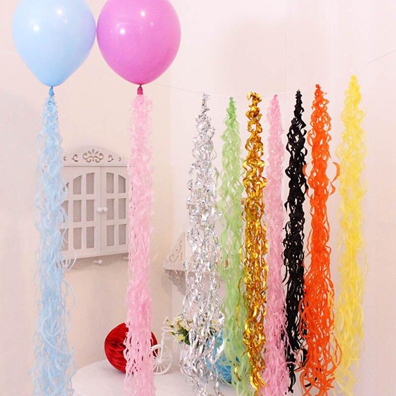 5pcs/bag Balloon Ceiling Hanging Swirl Decoration Metallic