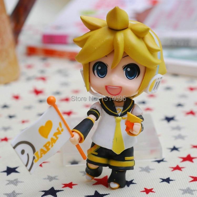 #190 4 Nendoroid Hatsune Miku Kagamine Len PVC Action Figure Model Collection Toy ND022