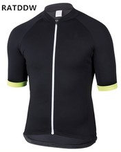 2018 Breathable Cycling Jersey Road Bicycle Clothes Roupa Ciclismo Cycling Bike Clothing Black Yellow Tops