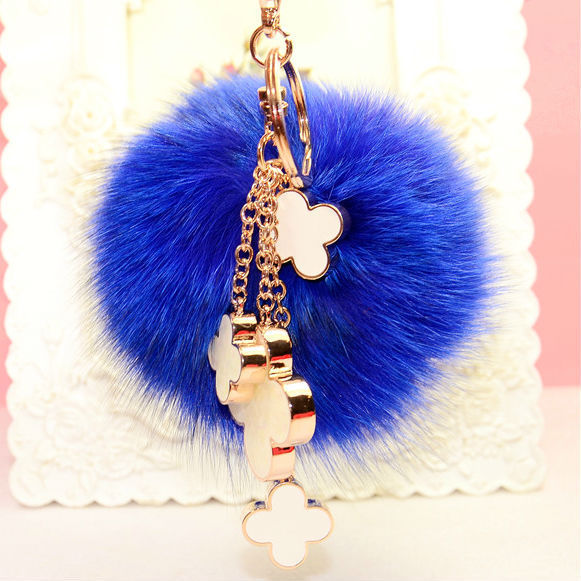 Fur Keychain  Four Leaf Clover Bag Women Bag Accessories