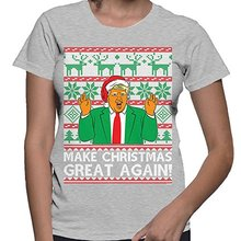 Women's Trump Make Christmas Great Again 666 T-shirt