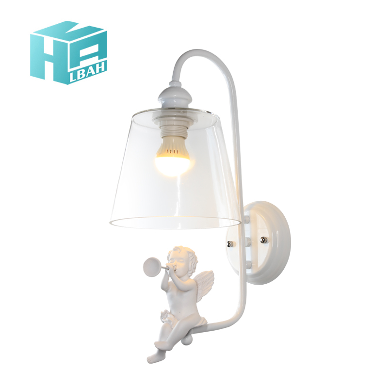 E27 modern simple aisle lamp living room bedroom bedside lamp glass Nordic creative bird angel resin wall lampE27 modern simple aisle lamp living room bedroom bedside lamp glass Nordic creative bird angel resin wall lamp