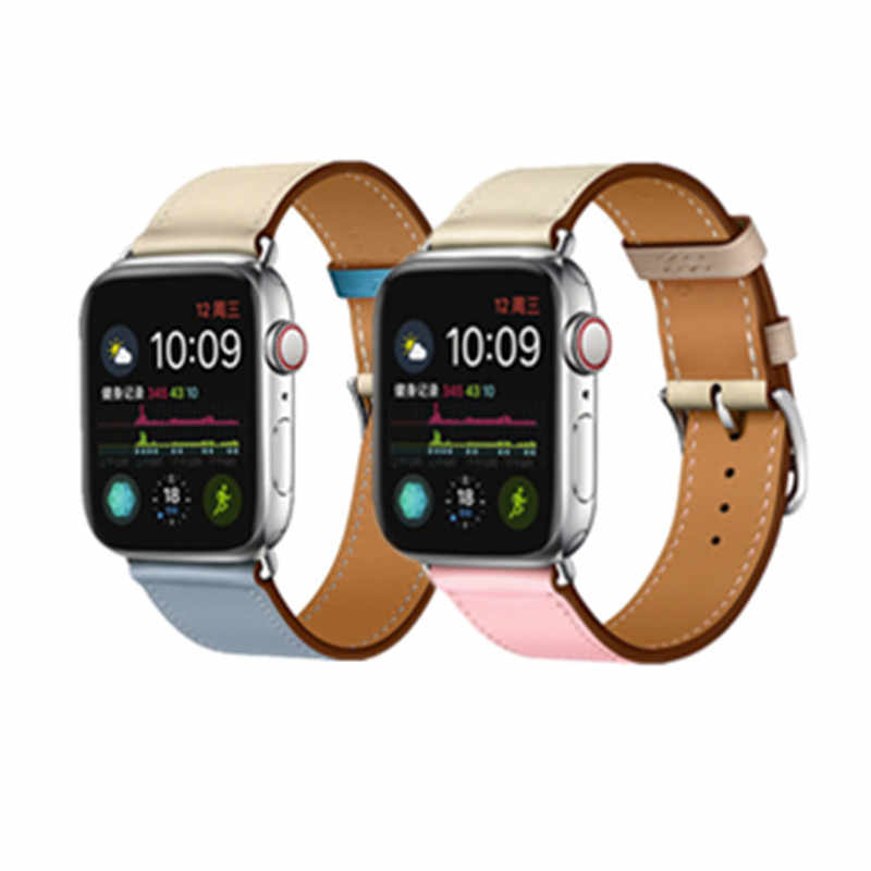 Single Tour Strap Genuine Leather Loop for Apple Watch Band 42mm 38mm 40mm 44mm for iWatch Series 1 2 3 4