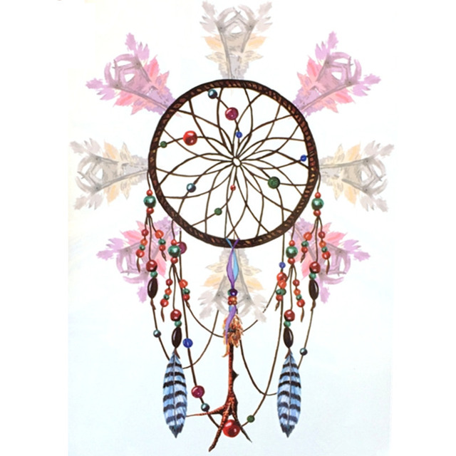 Fashion Waterproof Hot Temporary Tattoo Stickers 21 X 15 CM Light Color Dreamcatcher