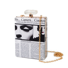 Parfüm Flasche Kupplung Frauen Modezeitschriften Kette Messenger Bags Frauen Parfüm Geformt Partei Handtasche Abendtasche Bolsa De Festa