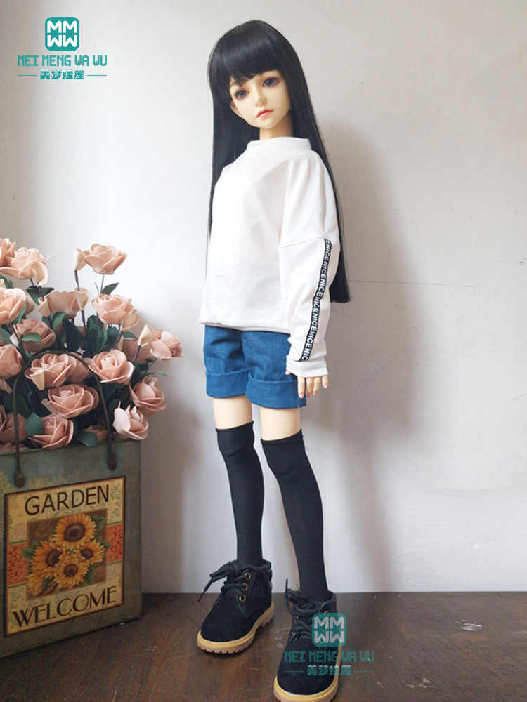 Kleding voor doll fit 1/3 BJD SD13 SD14 pop mode hoody casual wear + denim shorts
