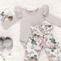 Летнее платье, платье для малышки, платье для маленькой девочки с цветочным принтом Одежда комбинезон ромпер брюки Комплекты одежды Повсед...
