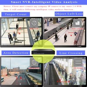 Image 2 - H.265 h.264 nvr 16 ch p2p 5mp rede gravador de vídeo suporta 1vga + 1 hdmi onvif cctv gravador para câmera de segurança ip vigilância