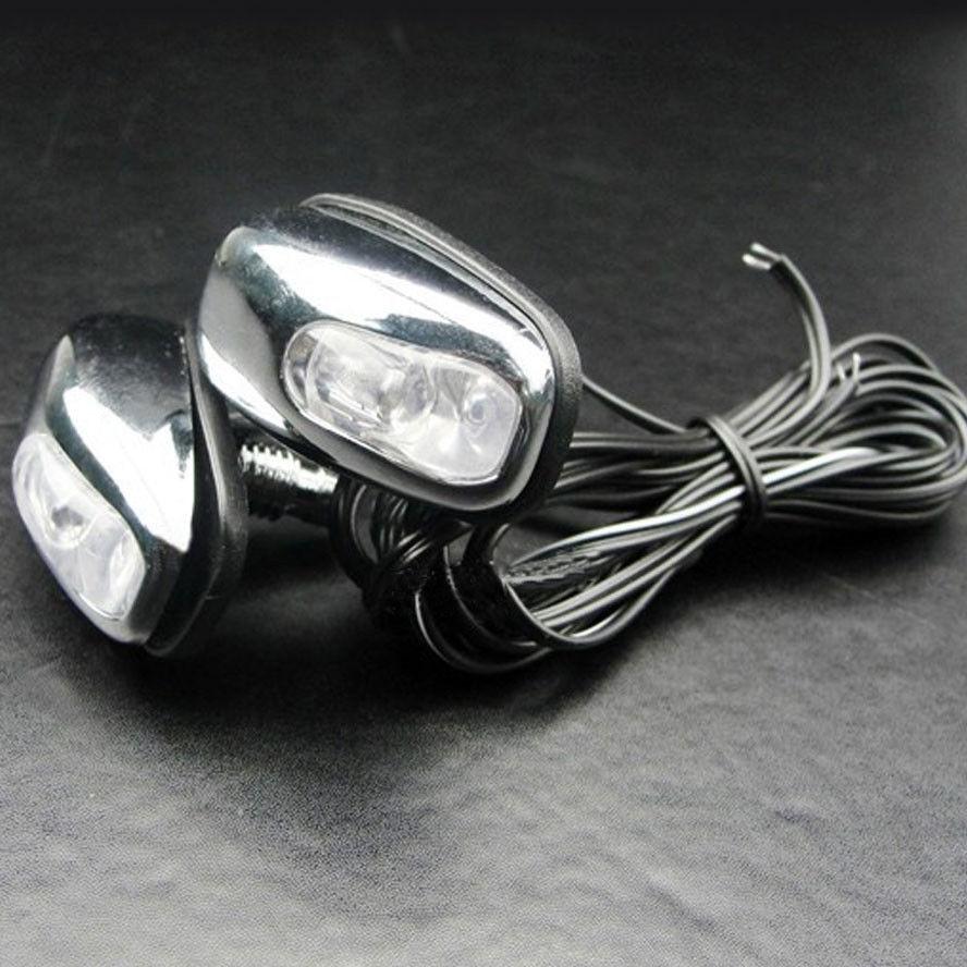 2 x 12 В автомобиля капот лобовое стекло Шайба Насадка с Белый светодиод, пригодный для гражданских автомобилей стайлинг авто аксессуары запчасти