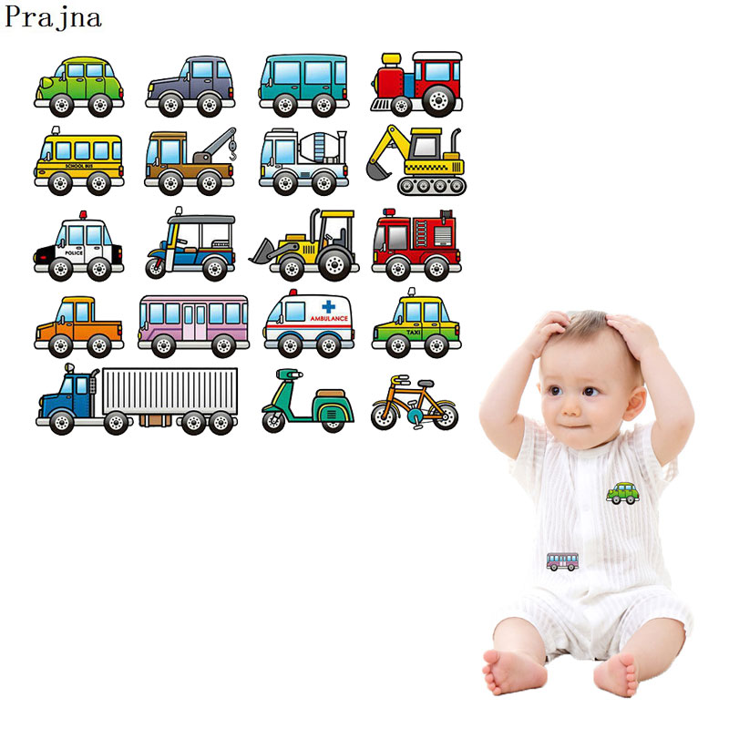 Prajna <font><b>Car</b></font> <font><b>Patches</b></font> For Clothes Boy Gifts Truck Off-road <font><b>Cars</b></font> Iron-on Transfers For Baby T-shirts DIY <font><b>Patch</b></font> <font><b>Logo</b></font> Rock Hot Sticker image