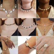 Yiustar Beach Shell Choker Jewelry Bohemian Pendant Necklace Girls Seashell Charm Layer Collier