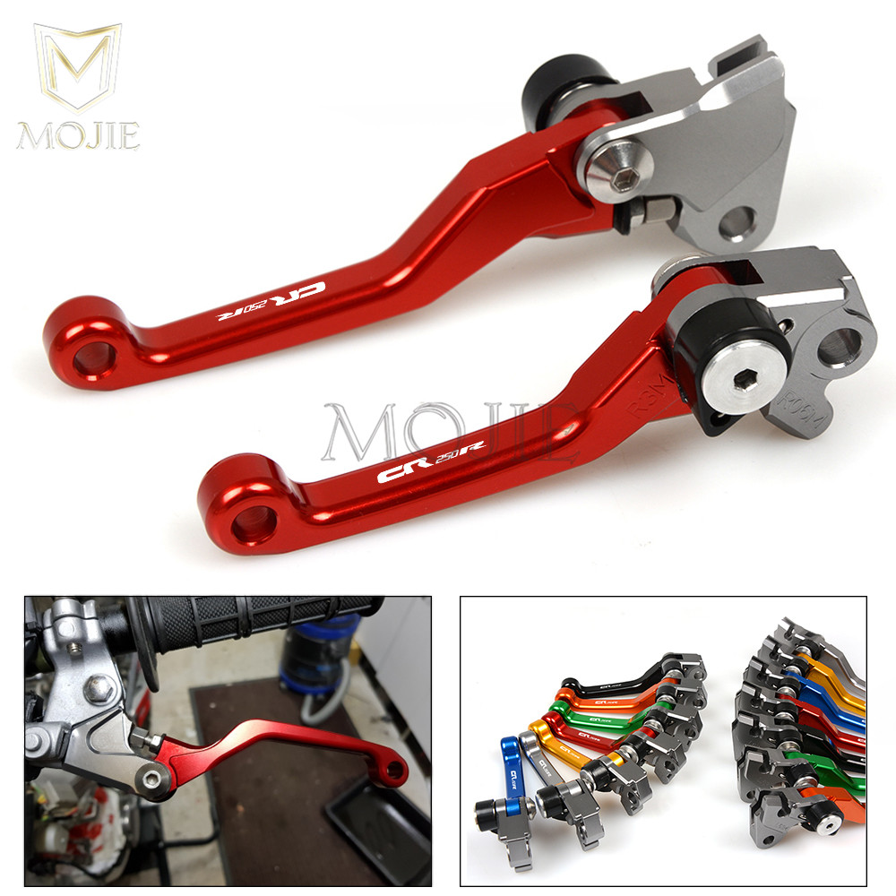For Honda CR 125R 250R CR 125 250 CR125 CR250 R CR125R CR250R 2004-2007 Motorcycle CNC Pivot Brake Clutch Levers Dirt Bike Lever logo cnc for honda crf450r 2002 2003 red black motorcycle brake clutch levers dirt bike pivot lever crf 450r crf 450 r 02 03