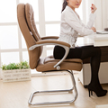 Bow computer chair boss chair office chair seat chair stool household leather fashion Ergonomics
