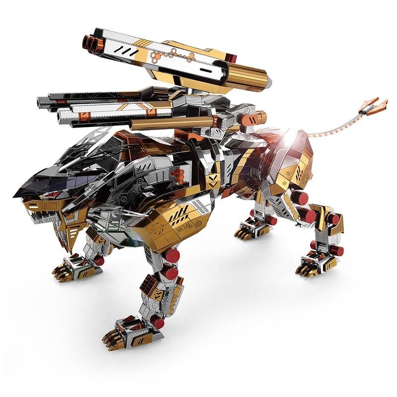 MMZ MODÈLE Microworld 3D Métal Puzzle Un Lion Rugissant Assembler Modèle Kits D001 DIY 3D Laser Cut Jigsaw Jouets Pour adulte