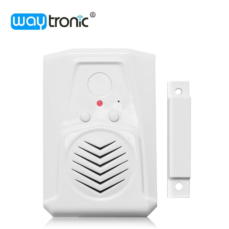 цена на Refrigerator Window Door Open Sensor Entry Alarm Anti-theft Welcome DoorBell Automatic Voice Reminder Dry Battery Powered