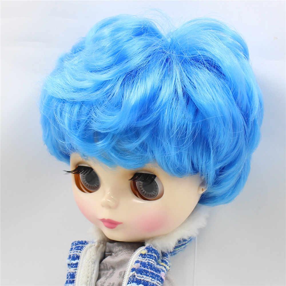 Ледяная фабрика blyth Кукла синие короткие волосы кукла-мальчик мужское тело с Макияж лица 1/6 30 см Натуральная кожа тело белая кожа лицо