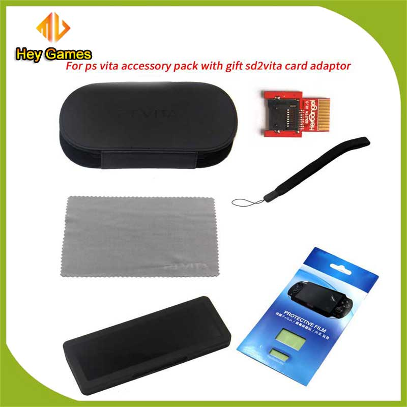 US $3 0 |New arrival ! For PSVITA Accessory pack with Gift SD2VITA CARD  ADAPTOR 1Set-in Replacement Parts & Accessories from Consumer Electronics  on