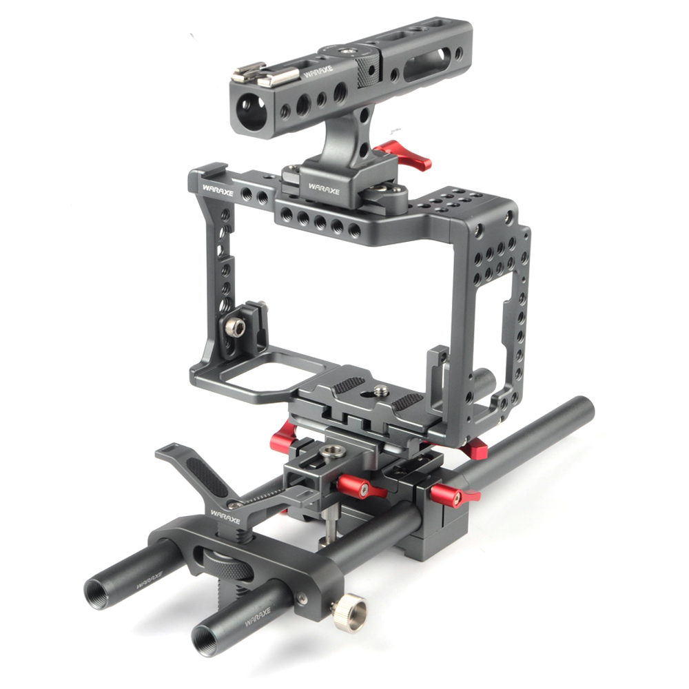 WARAXE Camera Cage Kit for For SONY A7 III A7II A7S A7SII A7R A7RII A7R3 M3