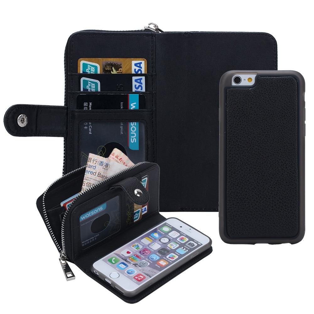 imágenes para Multifunción Monedero PU Funda de piel Para Samsung S4 S5 S6 S7 S7EDGE NOTE5 Cremallera Monedero Bolsa Cajas Del Teléfono Bolso de La Señora cubierta