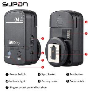 Image 4 - TRIOPO TR 982III TR 982 III 2.4G Wireless GN58 TTL 1/8000 HSS Master Slave Cameras Flash Speedlite for Nikon Canon