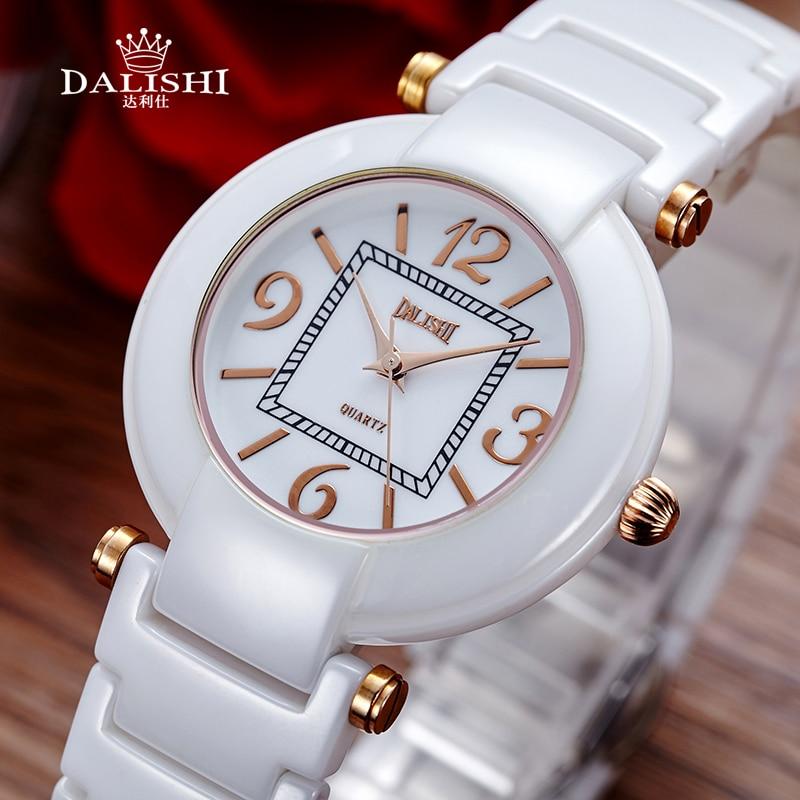 DALISHI Marque De Luxe Femmes Montres Blanc/Noir Céramique Quartz Montre Mode Numérique Cadran Dames Simple Horloge Relogio Feminino