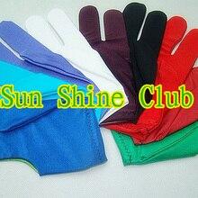 5 шт./партия, перчатки для бильярда/красочные перчатки для игры в пул, 3 пальца, перчатки высокого качества