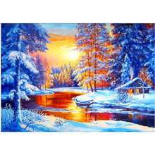 5D DIY part diamond embroidered landscape set painting rhinestone picture mosaic home decoration
