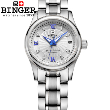 Switzerland BINGER Women's watches luxury18K gold Mechanical Wristwatches full stainless steel Waterproof Wristwatches B-603L