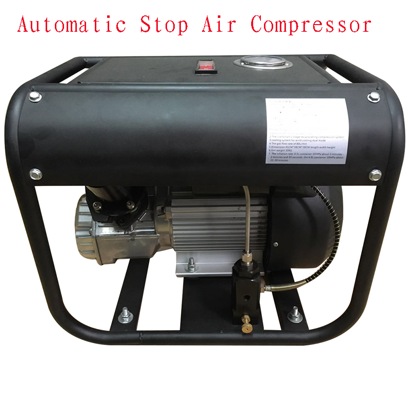 New JUFENG 110V 300bar Automatic Stop High Pressure Portable 4500psi Electric Air Compressor PCP Pump automatic stop double cylinder pcp electric air pump 220v 50hz high pressure paintball air compressor with breath filter