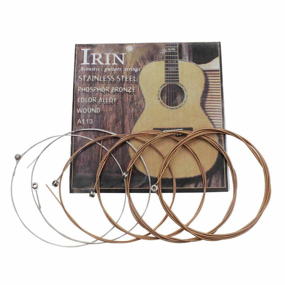 6 ピース/パック (。010-.047) アコースティックフォークギター弦ステンレス鋼線コア銅合金巻ギター Acceesories