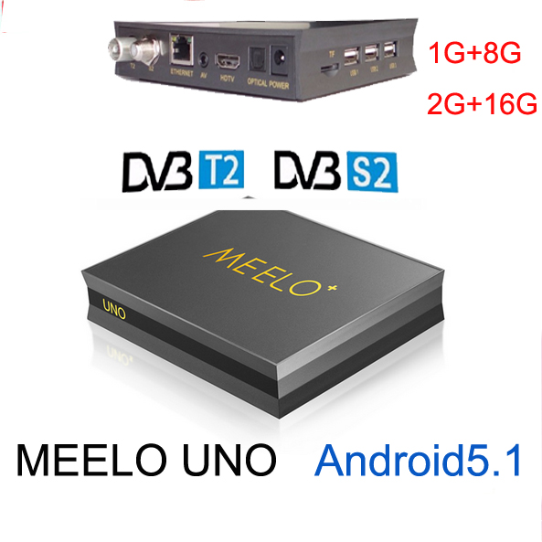 5pcs Meelo uno or meelo UNO2 1G/8G or 2G/16G Android 5.1.1 TV Box DVB-T2+DVB-S2 Amlogic S905 Quad Core 1080p 4K vs kii pro k1 s2 meelo uno2 1gb 8gb 4k meelo uno android 5 1 tv box dvb t2 dvb s2 amlogic s905 quad core 1080p support power vu biss media player