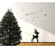 Christmas Wall Decals Merry  Snowflakes Reindeer Christmas Decor  Reindeer  Christmas wall decal sticker muralvinyl wall art