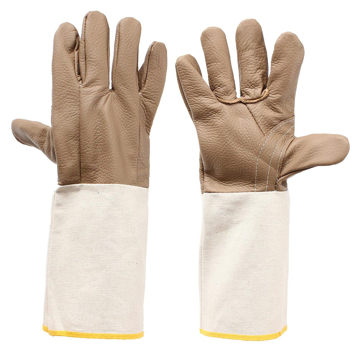 Welding WELDERS Work Soft Cowhide Leather Plus Gloves For protecting hand  цены