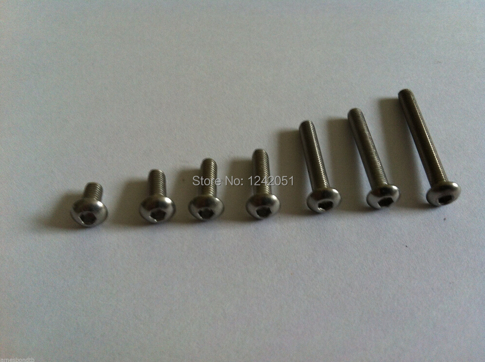20pcs Metric M8x16mm Stainless Steel Button Head Hex Socket Cap Screw Allen Bolt
