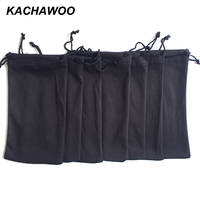 Kachawoo 100PCS needle 1 black sunglasses soft pouch high quality portable storage for glasses bag custom logo wholesale