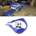 """7/8 """"22mm Guiador Da Bicicleta Da Sujeira ATV Motocicleta Escova Bar mão guardas Handguard Protetor de Mão motocicleta Azul"""