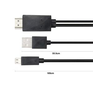 Мини 1080P MHL микро USB к HDMI кабель конвертер адаптер для Android телефона/ПК/ТВ аудио адаптер HDTV адаптер