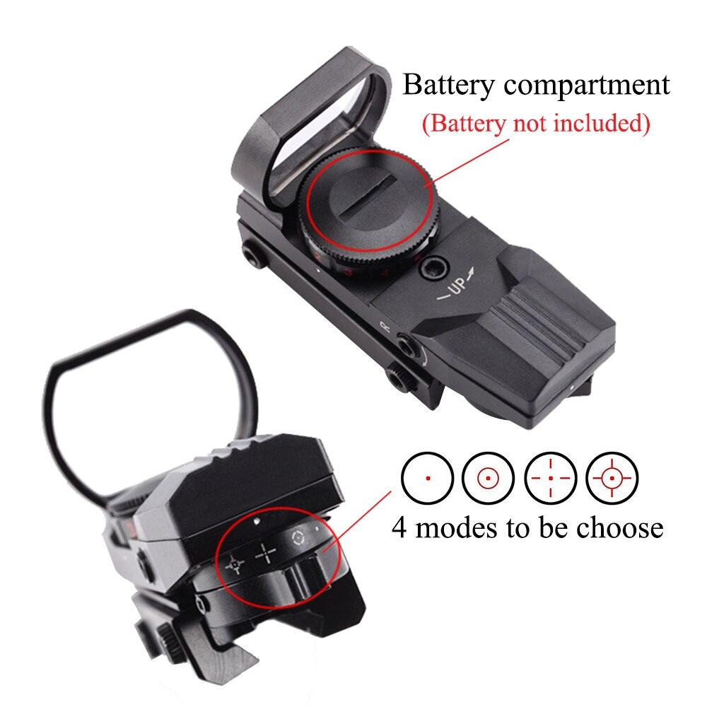 Qırmızı nöqtə dairəsi 11mm / 20mm Dovetail Riflescope Reflex - Ovçuluq - Fotoqrafiya 4