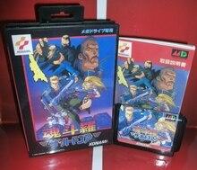 Contra sabit kolordu japonya kapak kutusu ve manuel Sega Megadrive Genesis Video oyunu konsolu 16 bit MD kart