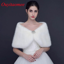 Fashion Wedding Wrap White Winter Bridal Jackets Off The Shoulder Short Crystal beaded Party Jacket 2018 New Arrival