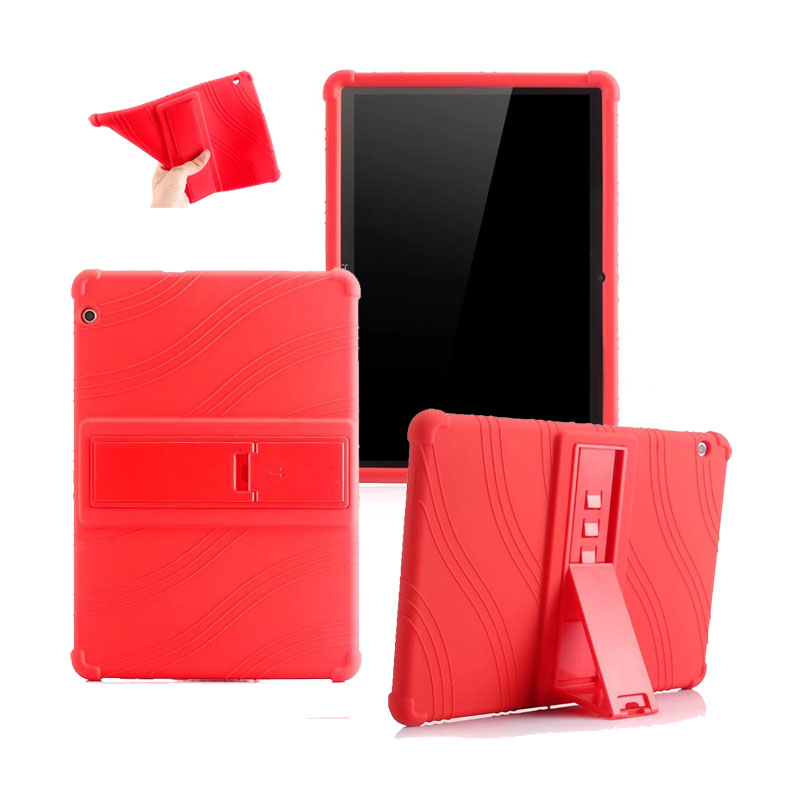 Soft Silicone Stand PU Case Cover For Huawei Mediapad T3 10 Rubber Skin 9 6 Tablet