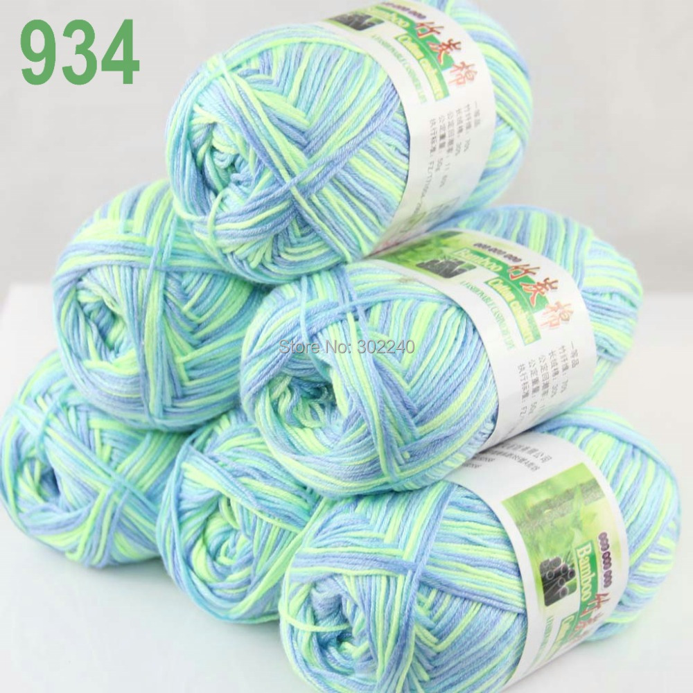6Skeins X 50g Baby Natural Smooth Soft Bamboo Cotton Knitting Yarn Knitwear 07