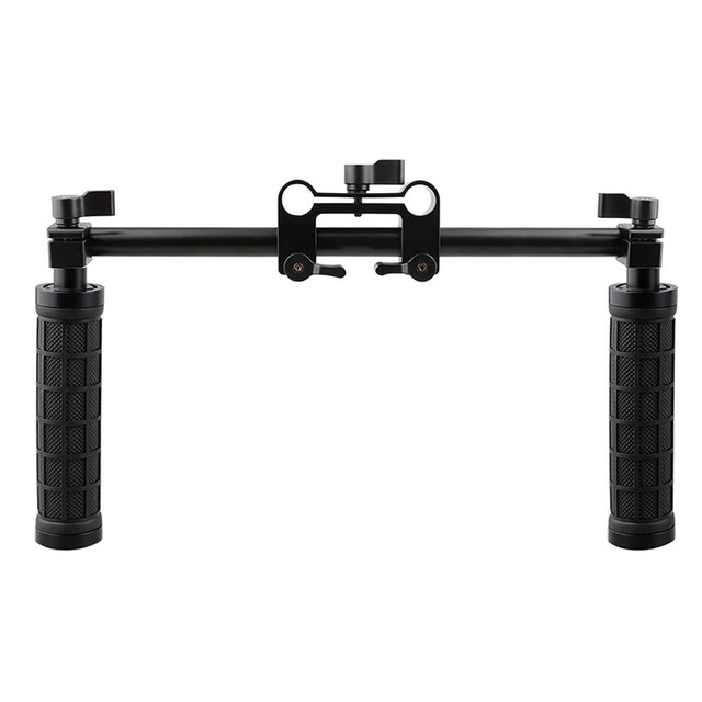CAMVATE Camera Handle Grip 15mm Rod Clamp Support Rail System DSLR Shoulder Rig Studio Photo Accessories C1049