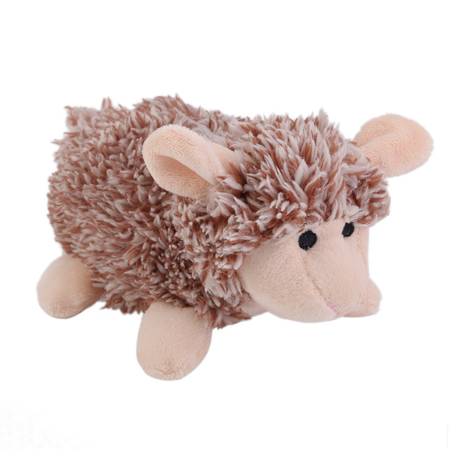 Pet Puppy Plush Sound Dog Toys Pet Chew Squeaker Squeaky Plush Sound Cute Sheep/Hedgehog Dumb Pet Dog Cat Talking Toys
