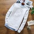 2016 Recién Llegado de Hombre de las camisetas de Alta Calidad de Gran Tamaño 3D Relieve impreso camisetas Tamaño Grande Casual Tee Shirt Homme Caliente venta