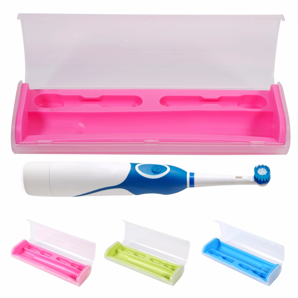 Portable toothbrush storage box candy color electrical for Bathroom accessories electric toothbrush holder