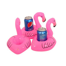 Party or Pool Decoration Kids Toy Mini Flamingo Floating Inflatable Coasters Drink or Cups Holder Stand Air Cushion 3Pcs/Set(China)
