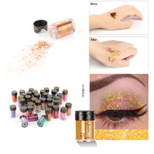 1 Pc 36 Colors Face Body Hair Eye Makeup Glitter Eyeshadow High Gloss Shimmer Powder Brightener Nail Art Glitter Flash TSLM1(China)