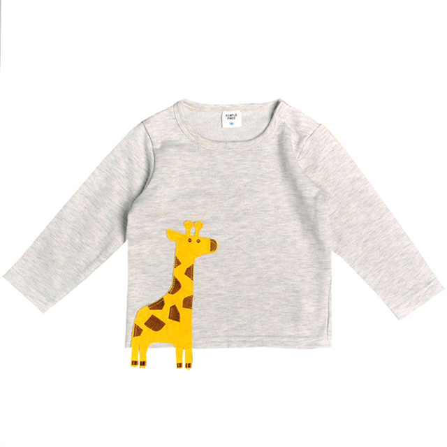 73472a38b 2018 kids Autumn clothes Cute Giraffe t shirt for boys Baby Girls Tops  toddler Long Sleeve t-shirt children's sports tees